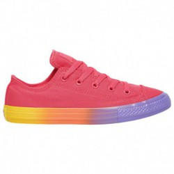 Converse All Star Lift Rainbow Converse All Star Ox - Girls' Grade School Strawberry Jam/wild Lilac | Rainbow Ice
