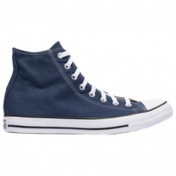Men's Navy Converse All Star Converse All Star Hi - Men's Navy/White | Canvas