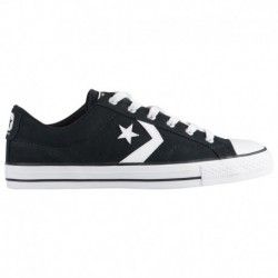 Converse Men's Ct All Star Leather Boots Black Converse Star Player Ox - Men's Black/Black/White