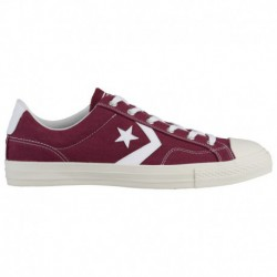 All Star Converse Burgundy Converse Star Player Ox - Men's Burgundy/White