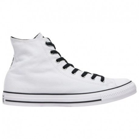 White Womens Converse All Star Converse All Star Hi - Men's White/White/Black