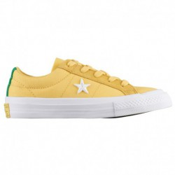 Converse One Star Boys Converse One Star Ox - Boys' Preschool Desert Gold/White
