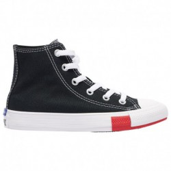 Converse All Star Black And Red Converse All Star Hi - Boys' Preschool Black/University Red/Amarillo | Logo Play