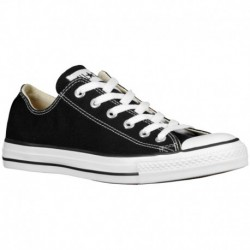 Converse All Star White Black Low Top Canvas Shoes Converse All Star Ox - Men's Black/White/Canvas | 41-20958-7-04
