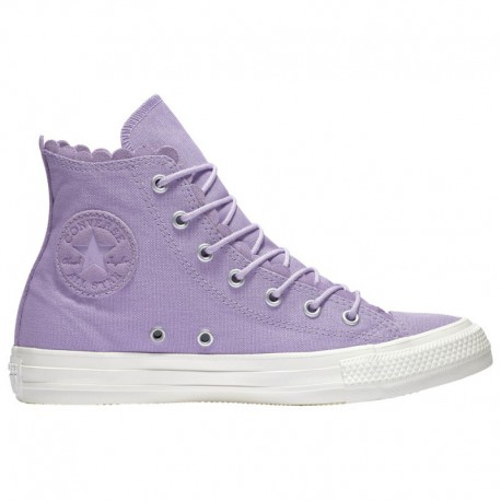 Converse All Star Lilac Converse All Star Hi - Women's Washed Lilac/White | Frilly Thrill