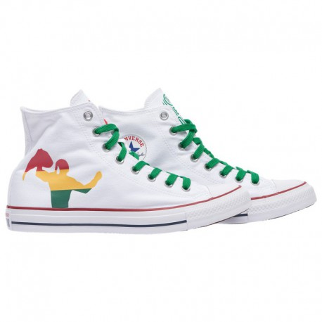 How Tall Was Chuck Taylor Converse Chuck Taylor Hi Wwe - Men's White | 41-00396-4-04
