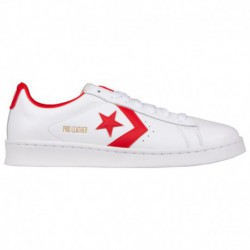 Red Converse PRO Leather Converse Pro Leather - Men's White/Red | 41-00580-3-04