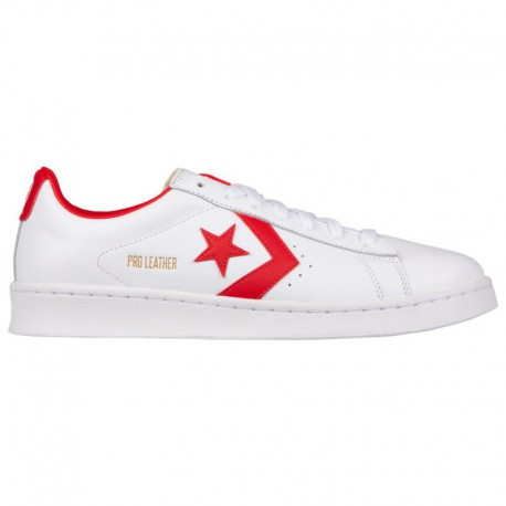 Red Converse PRO Leather Converse Pro Leather - Men's White/Red   41-00580-3-04