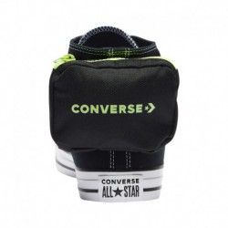 White Lace Up Converse Converse Buckle Up High - Men's Black/White | 41-00563-9-04