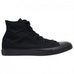 Black Canvas Converse All Star Converse All Star Hi - Men's Black Monochrome/Black | Canvas