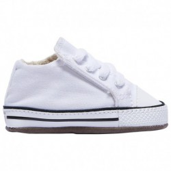 Converse All Star Leather Infant Converse All Star Crib Sneaker - Boys' Infant White | 61-60639-9-04