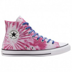 Girls Pink Chuck Taylors Converse Twisted Vacation Chuck All Star - Girls' Grade School Pink/Royal | 62-65690-6-04