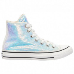 Converse All Star Silver Converse All Star Hi - Women's Silver/Vintage White/Black | Northern Lights