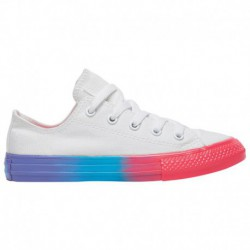 Converse All Star Space Racer Converse All Star Ox - Girls' Preschool White/Racer Pink/black | Rainbow Ice