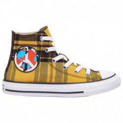converse all star yellow converse all star black and yellow converse all star hi boys preschool yellow black white plaid
