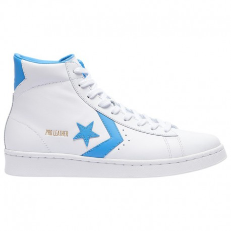 Converse PRO Leather Coast Blue Converse Pro Leather Mid - Men's White/Coast Blue/White