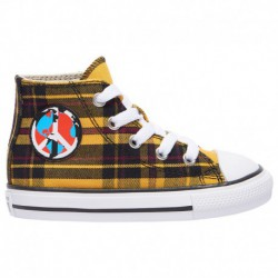 Converse All Star Ox Boys Toddler Converse All Star Hi - Boys' Toddler Yellow/Black/White | Plaid