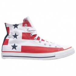 Converse All Star All White Low Converse All Star Hi - Men's White/University Red/White